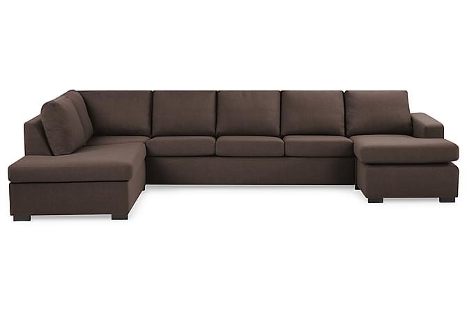 NEW YORK U-soffa XL Divan Höger Brun - Möbler & Inredning - Soffor - U-soffor