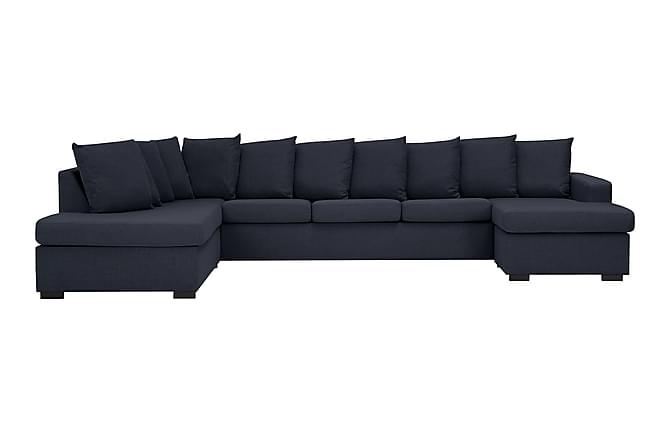 NEW YORK U-soffa XL Divan Höger + Kuddar Mörkblå - Inomhus - Soffor - U-soffor