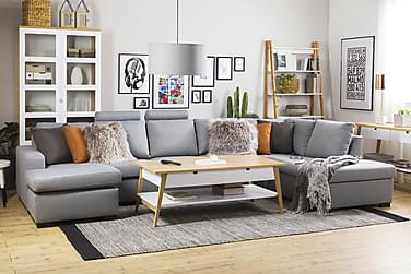 NEW YORK U-soffa XL Divan Höger Ljusgrå