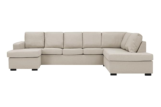 NEW YORK U-soffa XL Divan Vänster Beige - Möbler & Inredning - Soffor - U-soffor