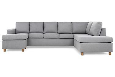 NEW YORK U-soffa XL Divan Vänster Ljusgrå