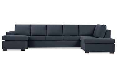 NEW YORK U-soffa XL Divan Vänster Mörkblå