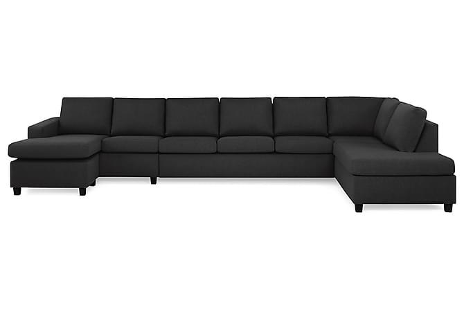 NEW YORK U-soffa XXL Divan Vänster Antracit - Möbler & Inredning - Soffor - U-soffor