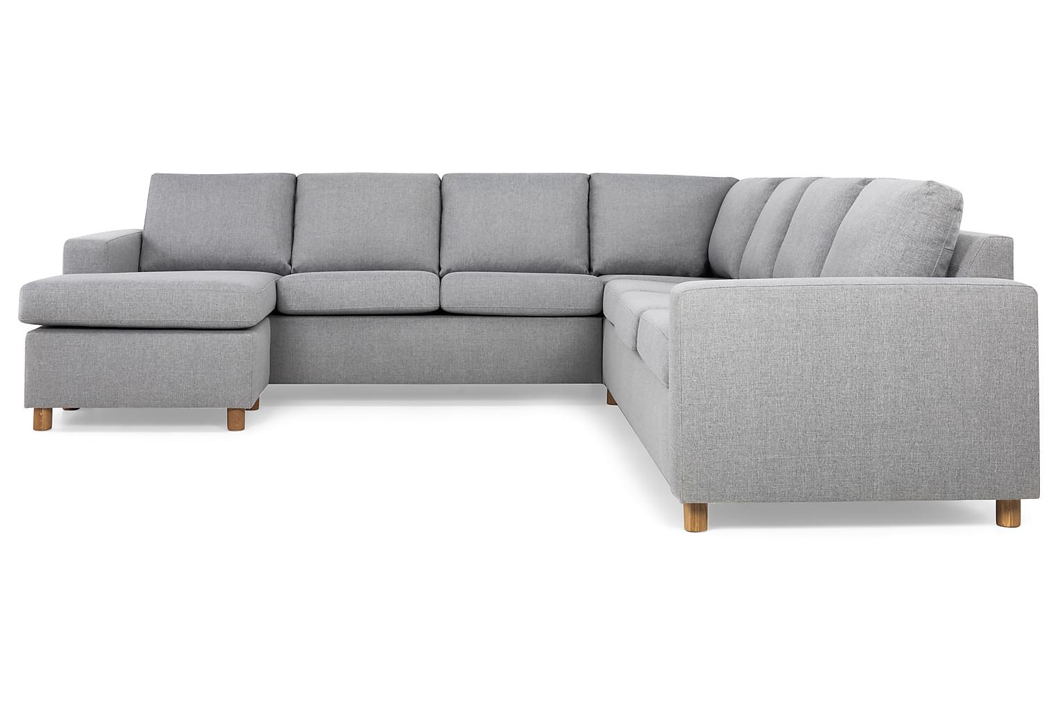NEW YORK XL Hörnsoffa med divan Ljusgrå -
