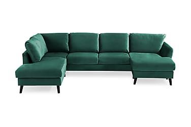 OSCAR U-soffa med Divan Höger Grön