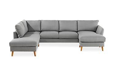 OSCAR U-soffa med Divan Höger Ljusgrå