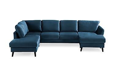 OSCAR U-soffa med Divan Höger Midnattsblå