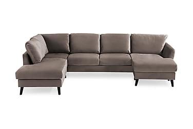 OSCAR U-soffa med Divan Höger Mullvad