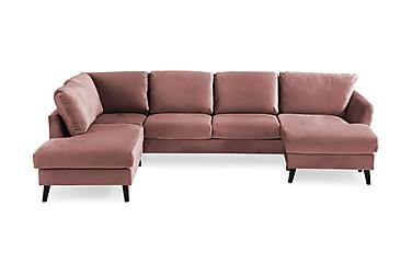 OSCAR U-soffa med Divan Höger Rosa