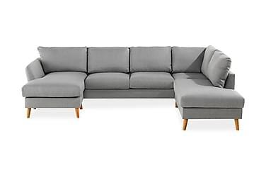 OSCAR U-soffa med Divan Vänster Ljusgrå
