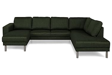 RIMELLA U-soffa med Divan Vänster Grön