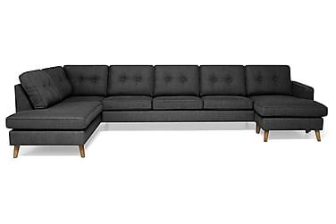 RIVALTA U-soffa Large med Divan Höger Mörkgrå