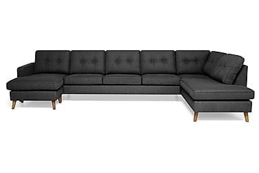 RIVALTA U-soffa Large med Divan Vänster Mörkgrå