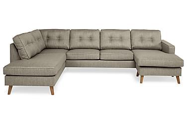 RIVALTA U-soffa med Divan Höger Gråbrun