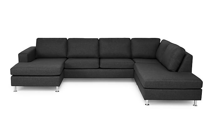 SULLIVAN U-soffa med Divan Vänster Svart - Inomhus - Soffor - U-soffor