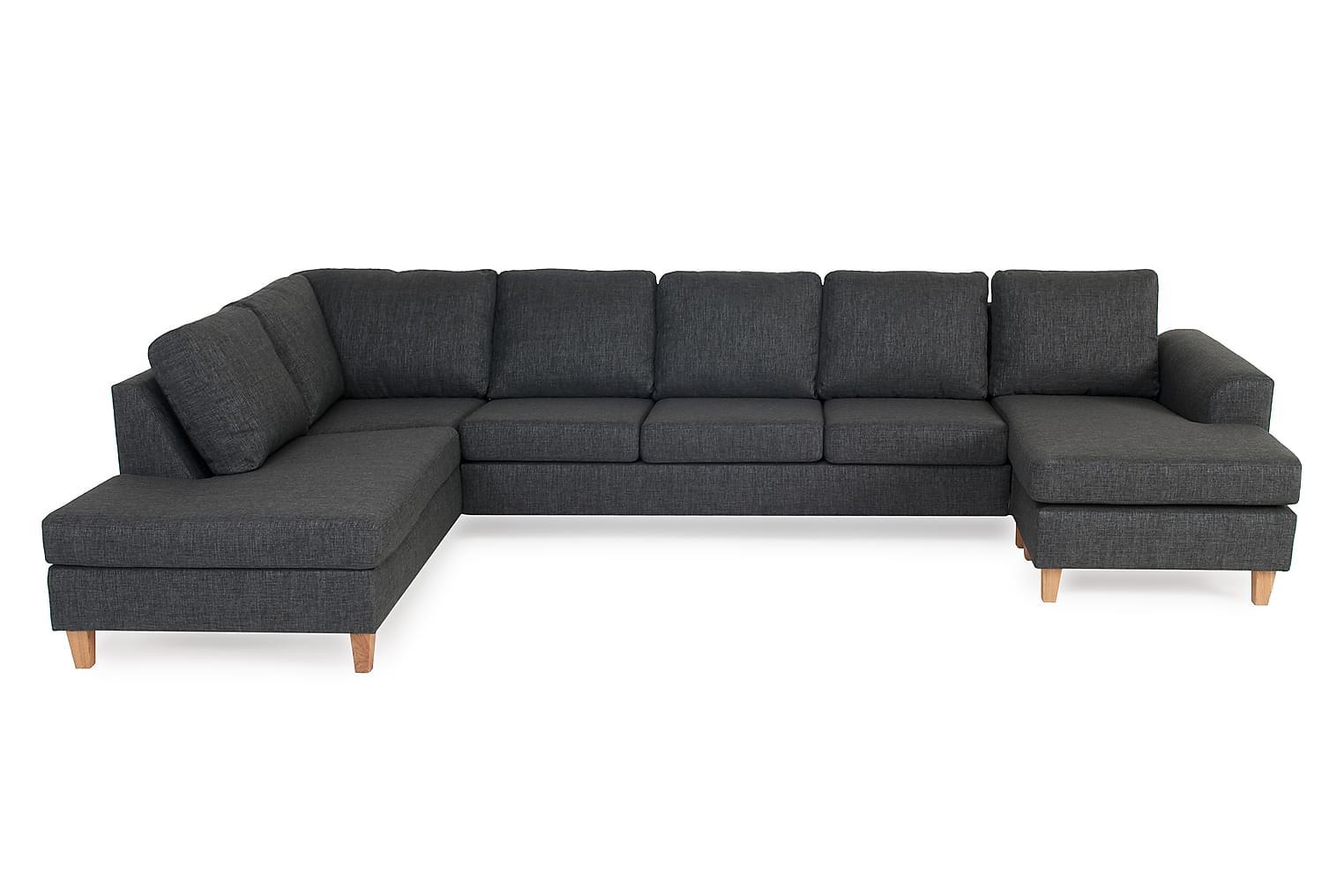 Torin TORIN U-soffa XL Vänster Antracite/Ekben -