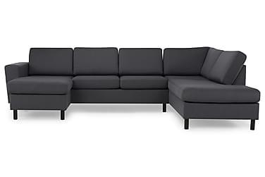 VINCE U-soffa med Divan Vänster Mörkgrå
