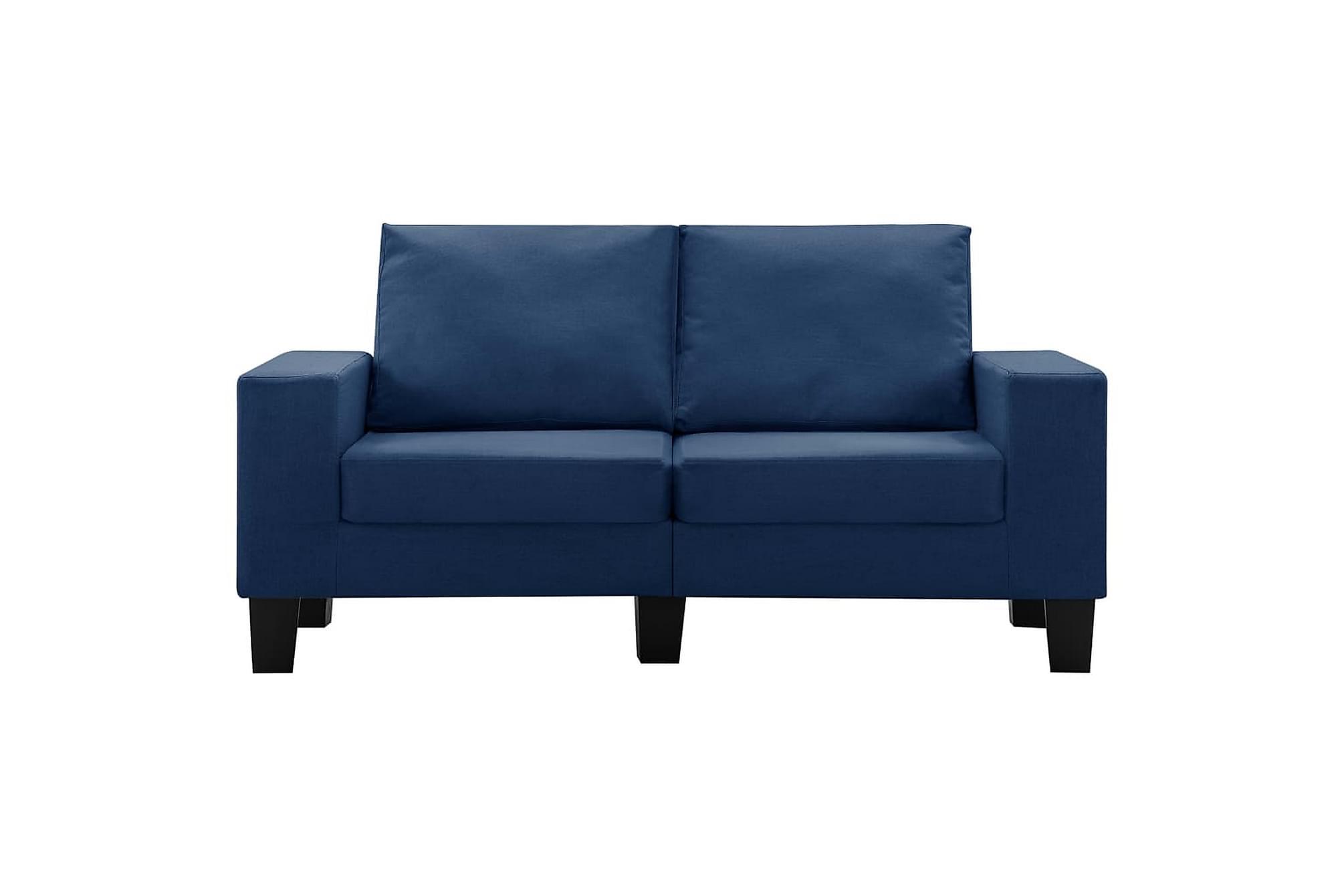 2-sitssoffa blå tyg, Soffor
