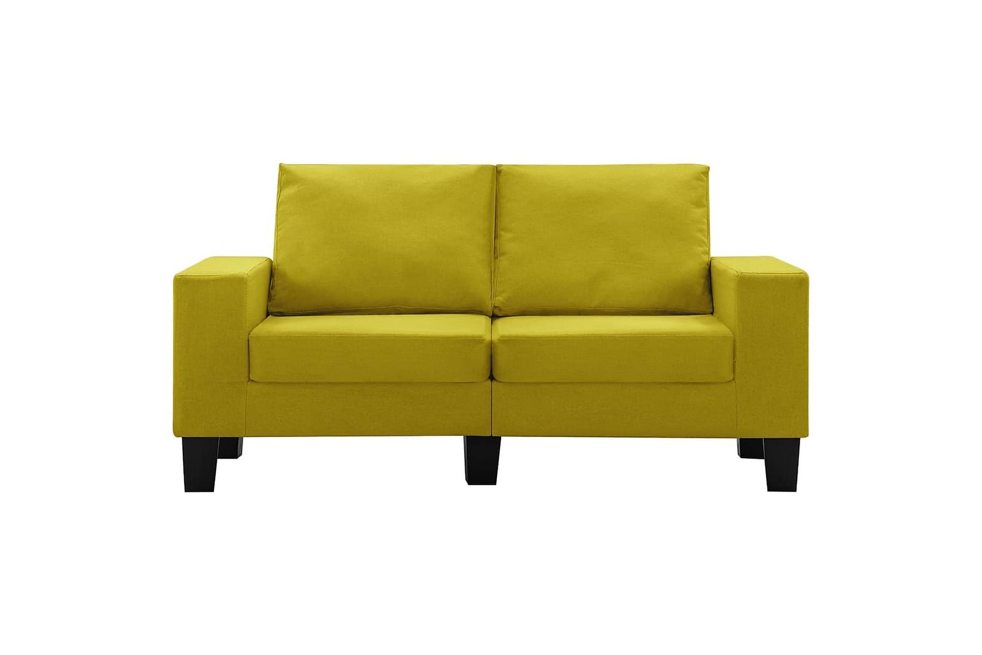 2-sitssoffa gul tyg, Soffor