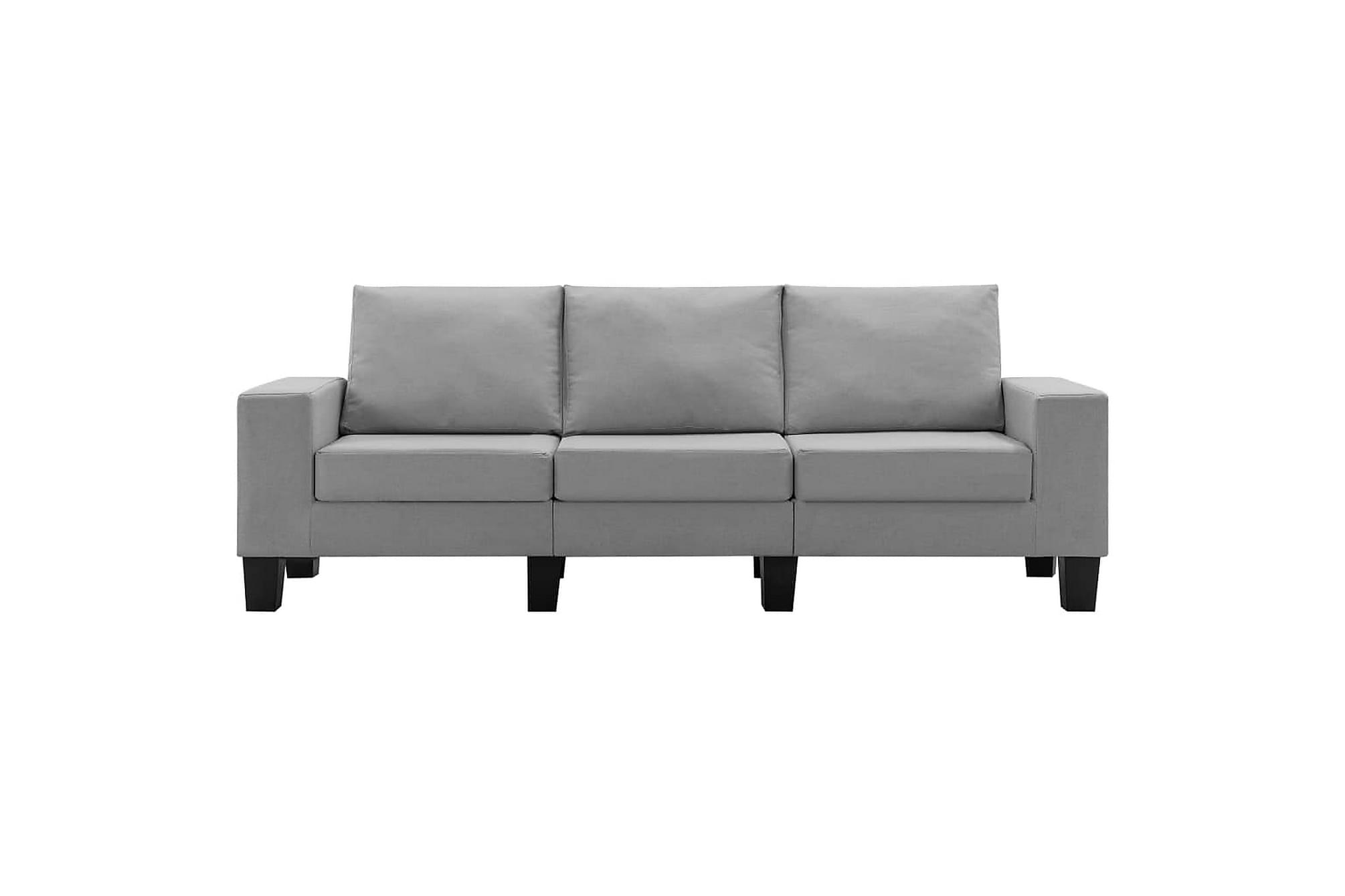 3-sitssoffa ljusgrå tyg, Soffor