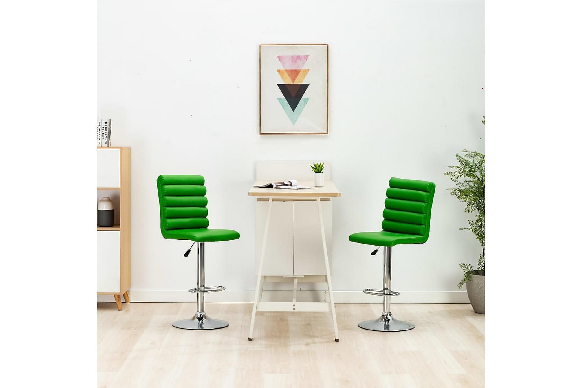 Barstol grön konstläder