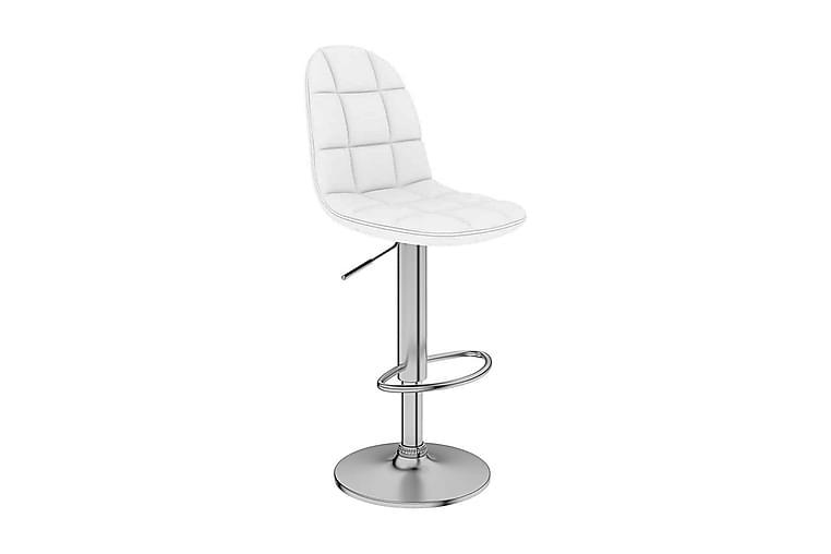 Barstol vit konstläder - Vit - Möbler & Inredning - Stolar - Barstolar