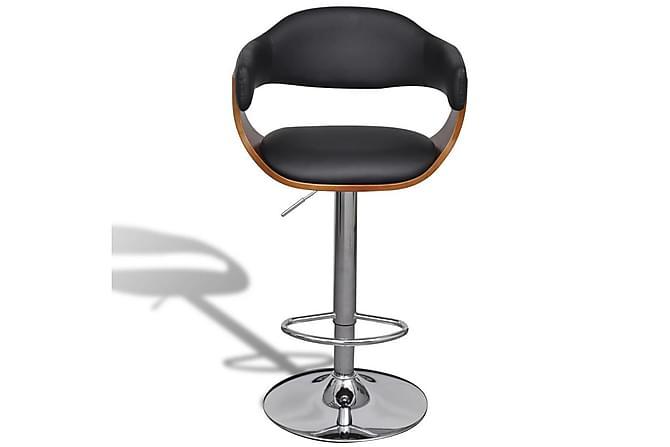 Barstolar 2 st konstläder - Brun|Svart|Krom - Möbler & Inredning - Stolar - Barstolar