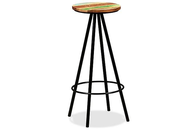 Barstolar 2 st massivt återvunnet trä - Flerfärgad - Möbler & Inredning - Stolar - Barstolar