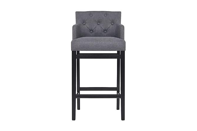 Barstolar 2 st mörkgrå tyg - Grå - Möbler & Inredning - Stolar - Barstolar