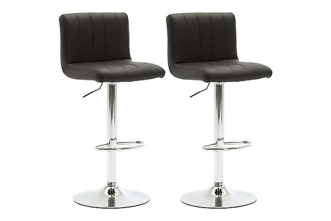 Barstolar 2 st svart konstläder - Svart - Möbler & Inredning - Stolar - Barstolar