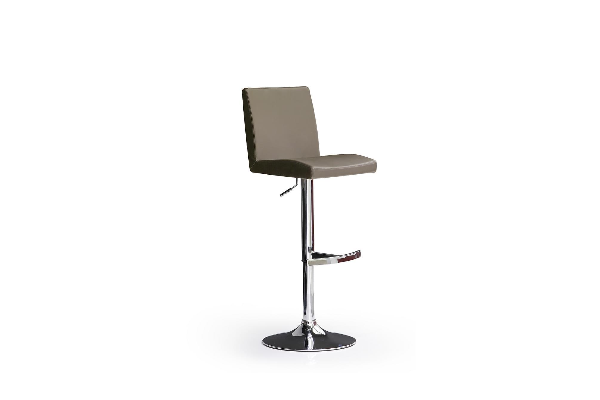 Soila barstol rund fot konstläder krom/cappuccino