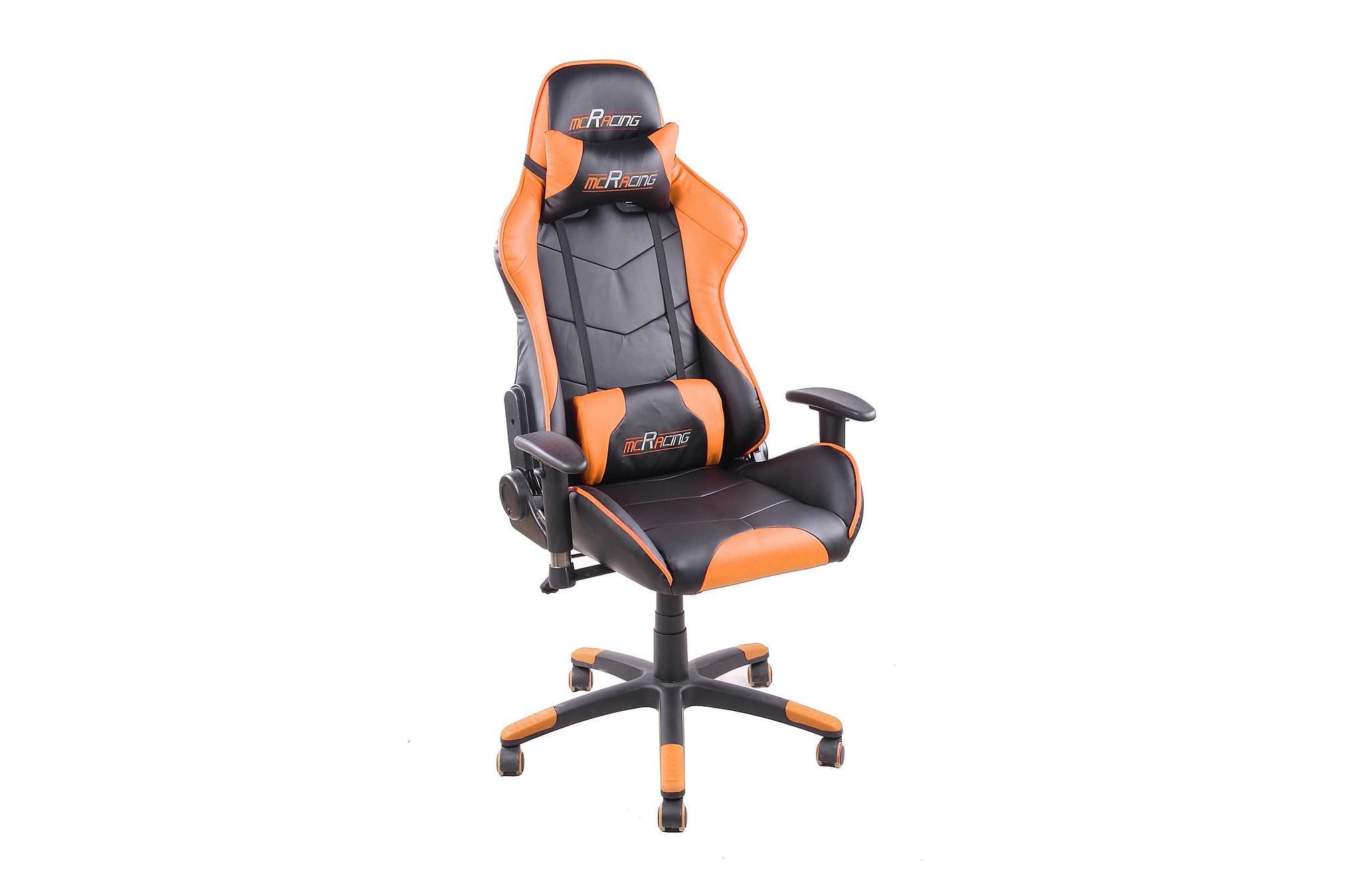 RACING Gamingstol PU-Svart/Orange