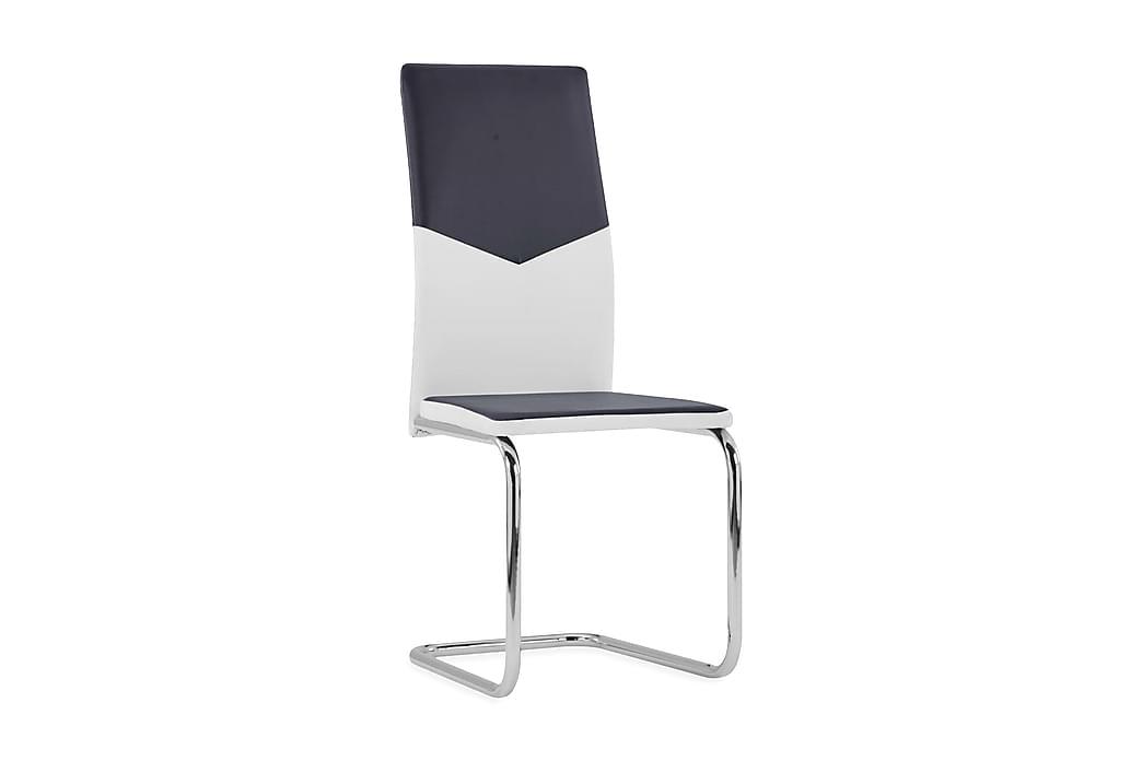 Fribärande matstolar 4 st svart konstläder - Svart - Möbler & Inredning - Stolar - Matstolar