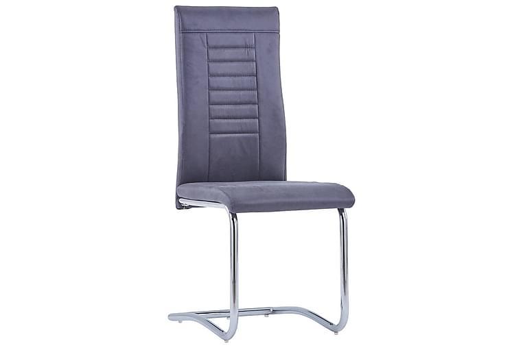 Fribärande matstolar 6 st konstmocka grå - Grå - Möbler & Inredning - Stolar - Matstolar