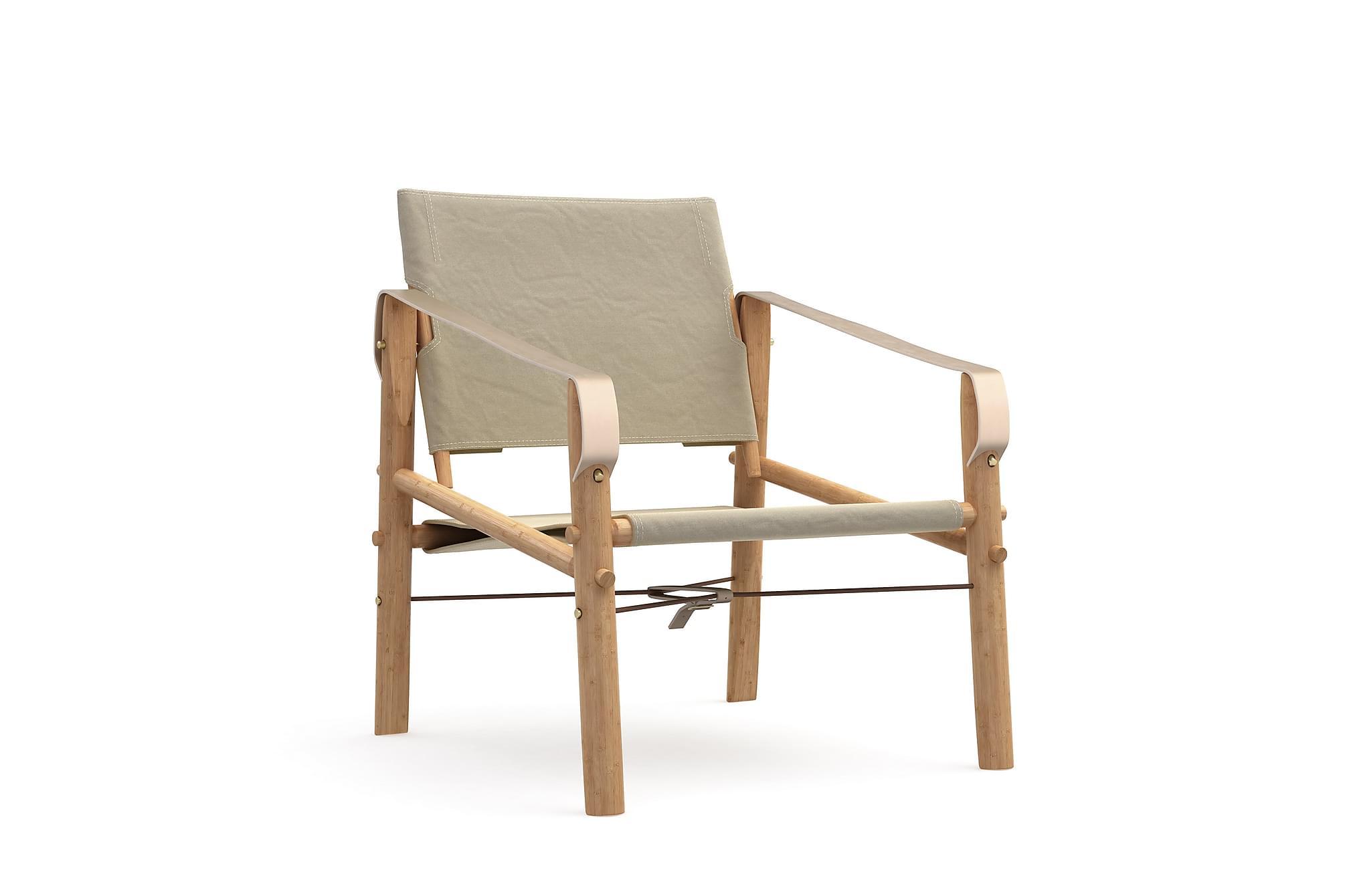 KARIM Stol Beige/Bambu, Matstolar