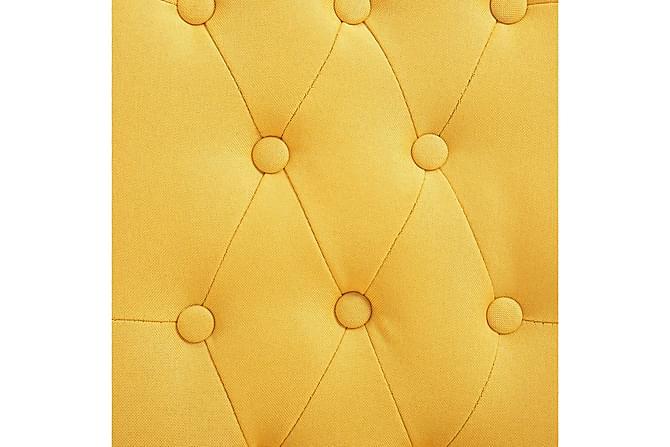 Matstolar 2 st gul tyg - Inomhus - Stolar - Matstolar