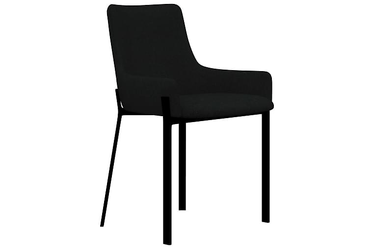 Matstolar 2 st svart tyg - Svart - Möbler & Inredning - Stolar - Matstolar