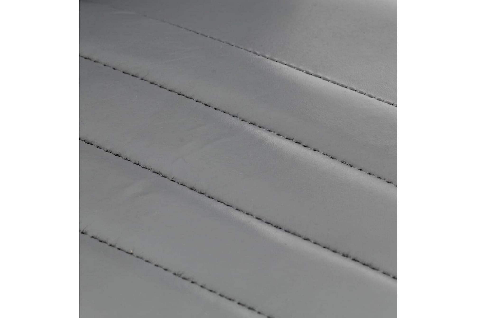Matstolar 4 st grå äkta läder