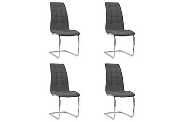 Matstolar 4 st tyg 42,5x61x104,5 cm mörkgrå