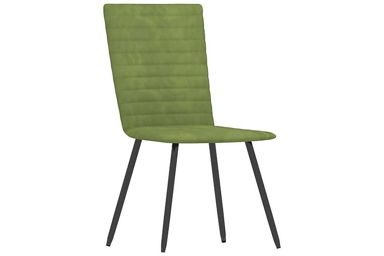 Matstolar 6 st grön sammet - Grön - Möbler & Inredning - Stolar - Matstolar