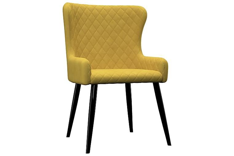 Matstolar 6 st gul sammet - Gul - Möbler & Inredning - Stolar - Matstolar