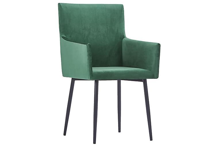Matstolar med armstöd 2 st grön sammet - Grön - Möbler & Inredning - Stolar - Matstolar