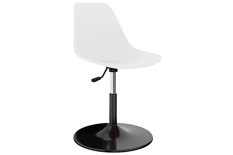 Snurrbara matstolar 2 st vit PP - Vit - Möbler & Inredning - Stolar - Matstolar