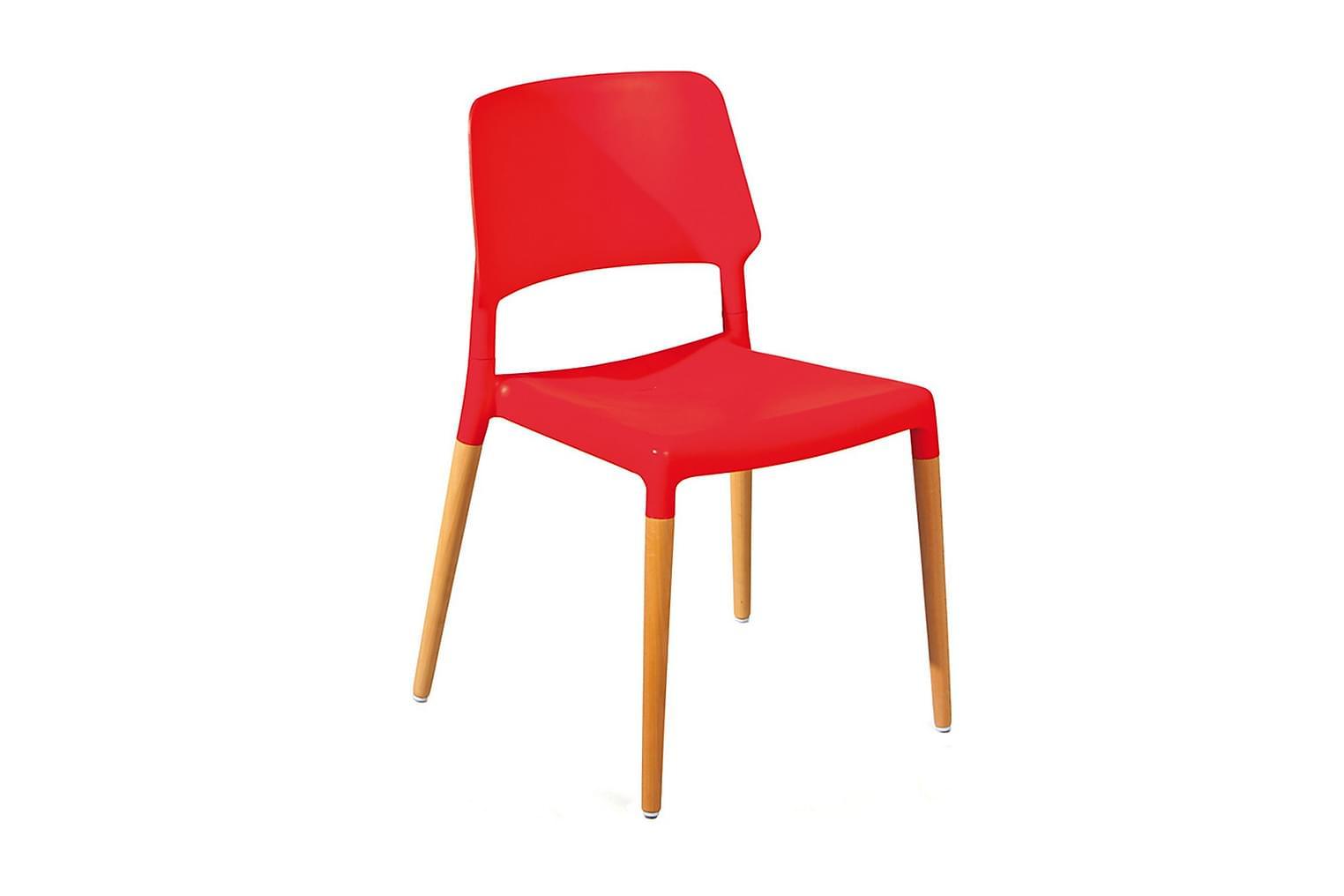 Tilde TILDE Stol 4-pack Röd/Bok -