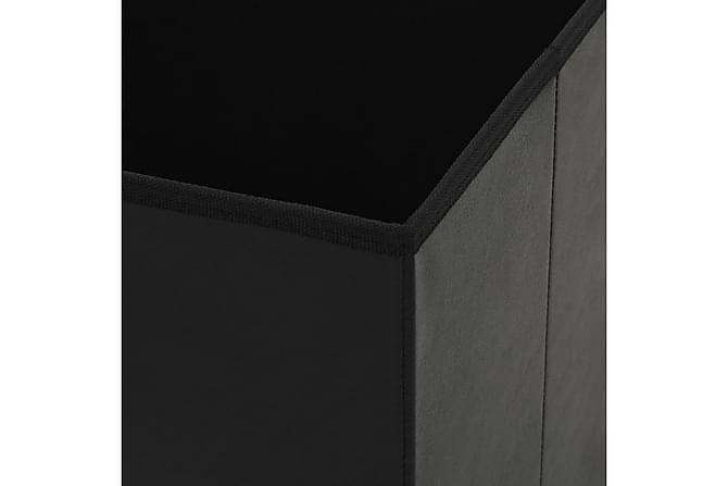 Förvaringspallar 2 st hopfällbara konstläder 38x38x38 cm sva - Inomhus - Stolar - Pallar