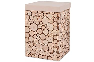 Pall i äkta trä 30x30x40 cm