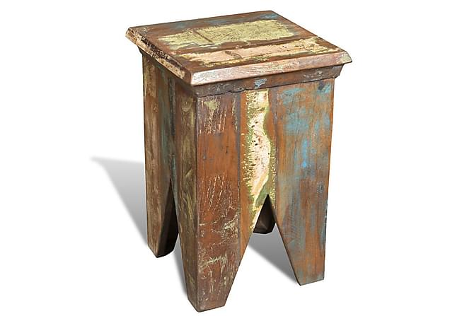 Pall massivt återvunnet trä - Brun - Möbler & Inredning - Stolar - Pallar