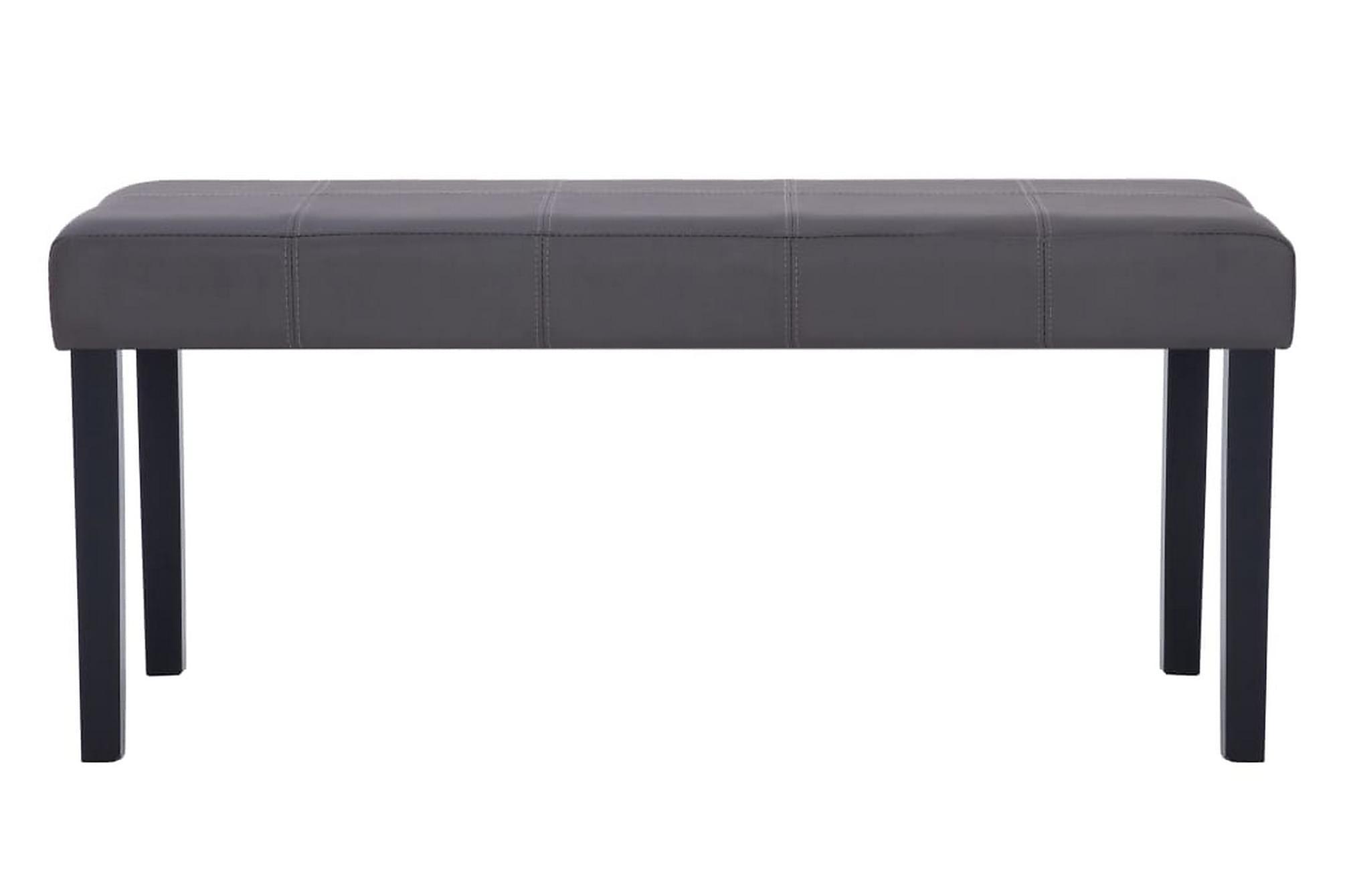 Bänk 106 cm konstläder grå, Sittbänk