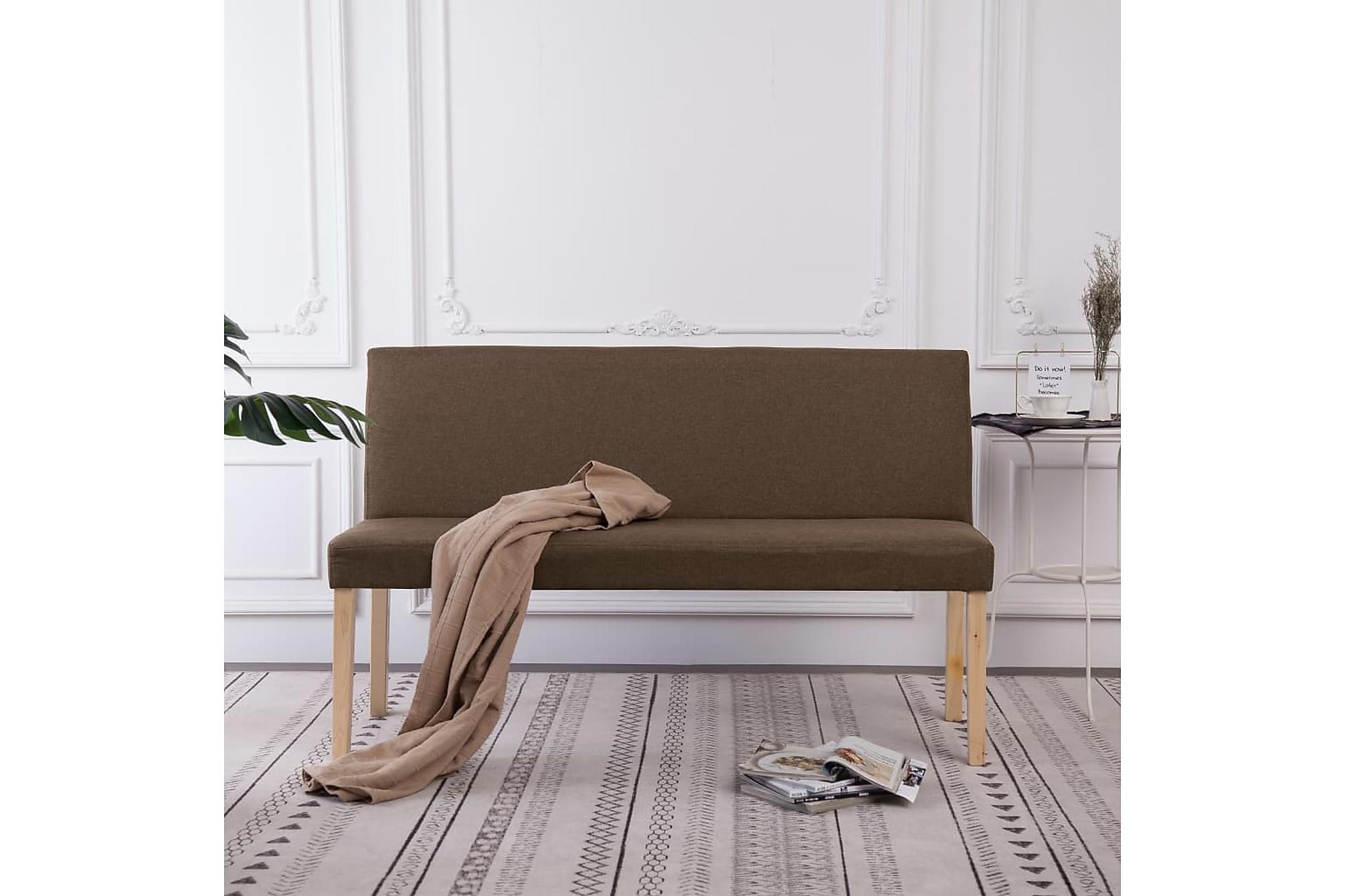 Bänk 139,5 cm polyester brun