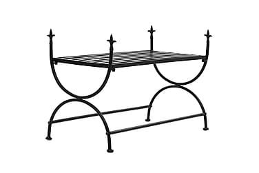 Bänk vintage stil metall 83x42x55 cm svart